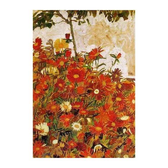 decorative paintings - Picture -Campo de flores-