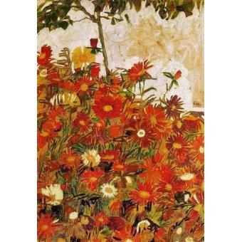 - Quadro -Campo de flores- - Schiele, Egon