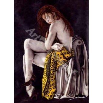 quadros nu artistico - Quadro -Chica Leopardo- - Miranda, Nieves