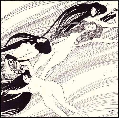 quadros-nu-artistico - Quadro -Fischblut (2)- - Klimt, Gustav