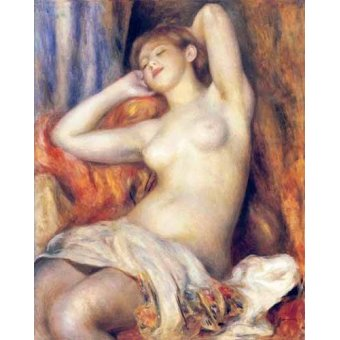quadros nu artistico - Quadro -The Sleeper- - Renoir, Pierre Auguste
