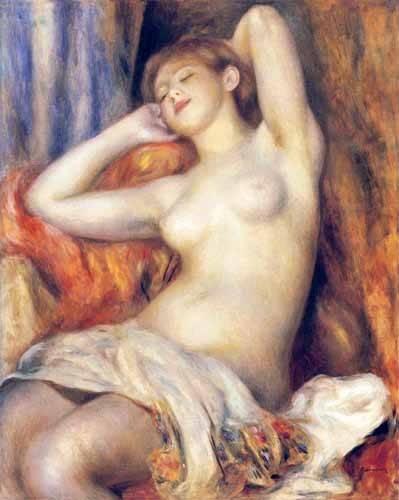 quadros-nu-artistico - Quadro -The Sleeper- - Renoir, Pierre Auguste