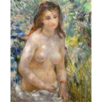 quadros nu artistico - Quadro -Etude, torse, effet de soleil- - Renoir, Pierre Auguste