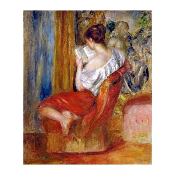 pinturas do retrato - Quadro -Mujer leyendo-