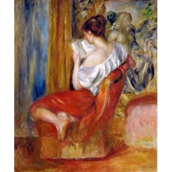 - Quadro -Mujer leyendo- - Renoir, Pierre Auguste