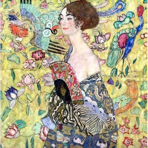 Quadro -Mulher com um fã, 1918-