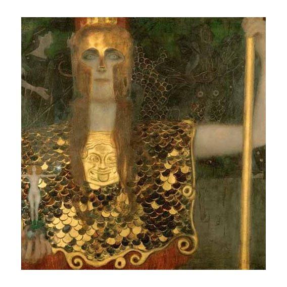 pinturas do retrato - Quadro -Palas Atenea-