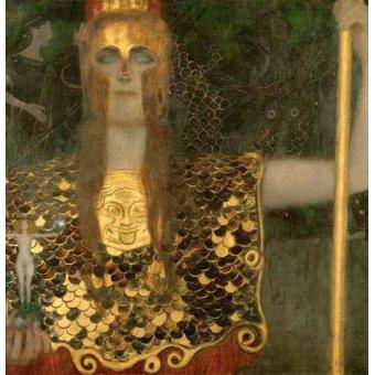 pinturas de retratos - Quadro -Palas Atenea- - Klimt, Gustav