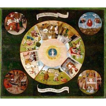 quadros religiosos - Quadro -Mesa de los pecados capitales, 1485- - Bosco, El (Hieronymus Bosch)