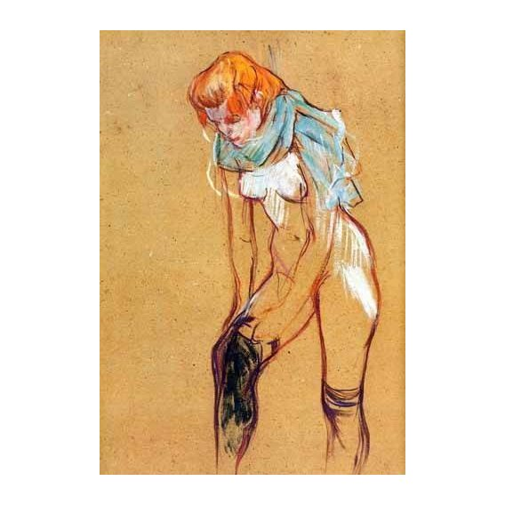 quadros decorativos - Quadro -Mujer quitándose las medias-