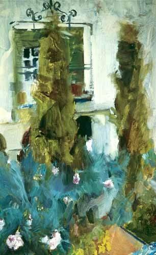 quadros-de-paisagens - Quadro -Jardin de la casa del artista (IX)- - Sorolla, Joaquin