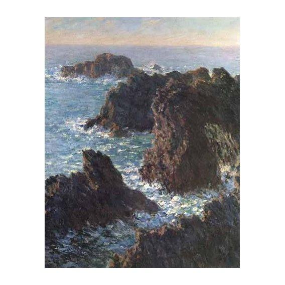 pinturas de paisagens marinhas - Quadro -Cliffs at Belle-Île-
