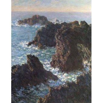 quadros de paisagens marinhas - Quadro -Cliffs at Belle-Île- - Monet, Claude