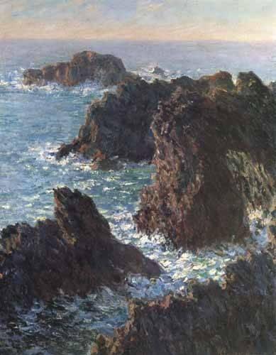 quadros-de-paisagens-marinhas - Quadro -Cliffs at Belle-Île- - Monet, Claude