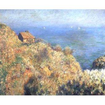 quadros de paisagens marinhas - Quadro -Cliffs at Varengeville (II).- - Monet, Claude