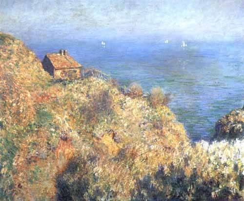 quadros-de-paisagens-marinhas - Quadro -Cliffs at Varengeville (II).- - Monet, Claude