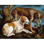 Quadro -Dos perros de caza-