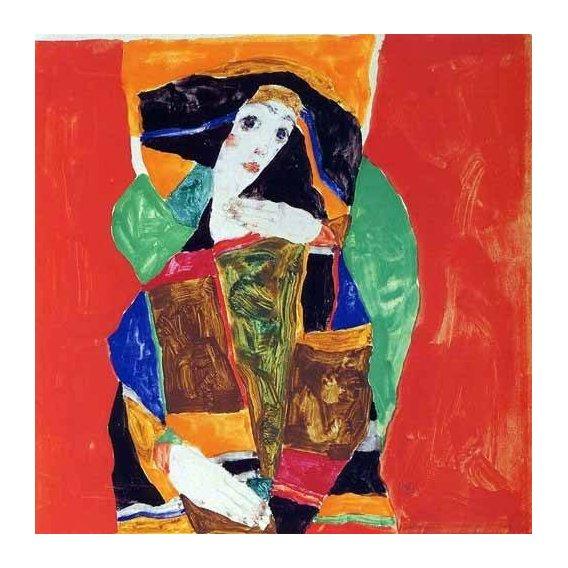 pinturas abstratas - Quadro -Portrait of a Woman-