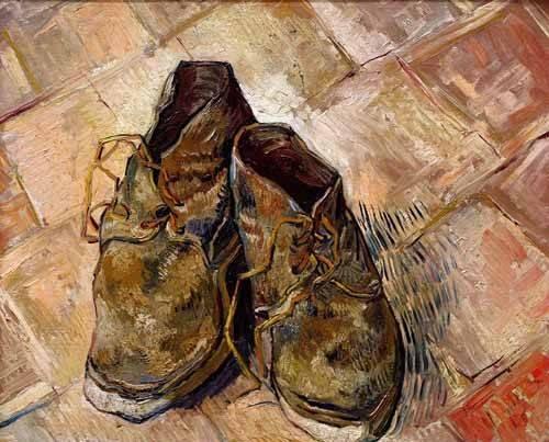 decorative paintings - Picture -Los zapatos de Van Gogh- - Van Gogh, Vincent