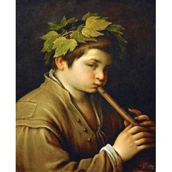 - Quadro -Boy with flute- - Bassano, Jacopo da Ponte