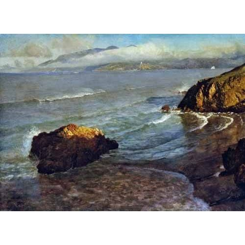 pinturas de paisagens marinhas - Quadro -Entrance to the Golden Gate-