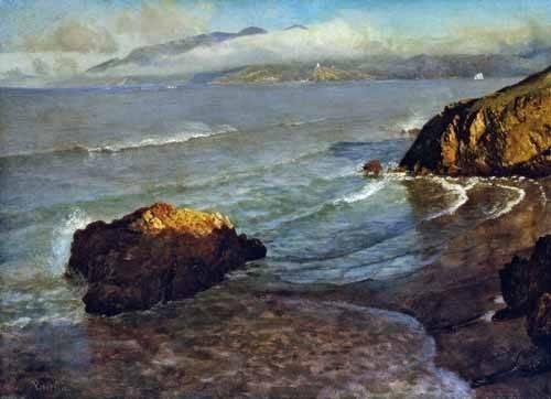 quadros-de-paisagens-marinhas - Quadro -Entrance to the Golden Gate- - Bierstadt, Albert