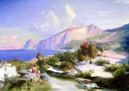 quadros-de-paisagens - Quadro -Marina grande, Capri- - Blechen, Karl