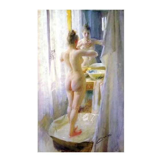 decorative paintings - Picture -Mujer en la tina-