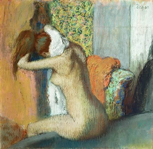 cuadros decorativos - Cuadro -Mujer secandose el cuello, 1898- - Degas, Edgar
