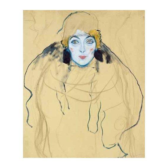 pinturas do retrato - Quadro -Head of a Woman-