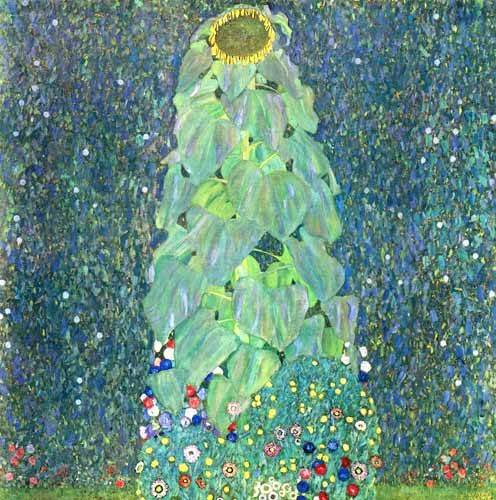 quadros-de-flores - Quadro -El Girasol- - Klimt, Gustav
