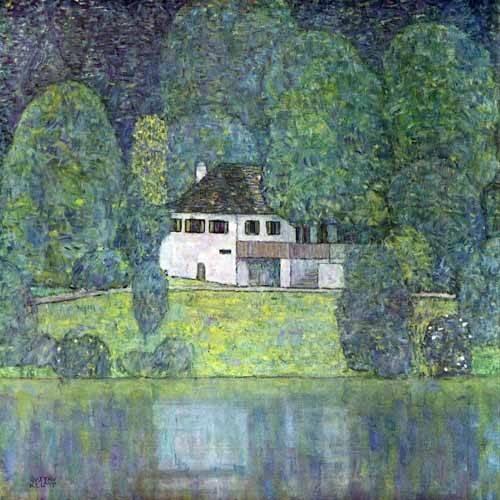 quadros-de-paisagens - Quadro -Litzlbergerkeller am Attersee- - Klimt, Gustav
