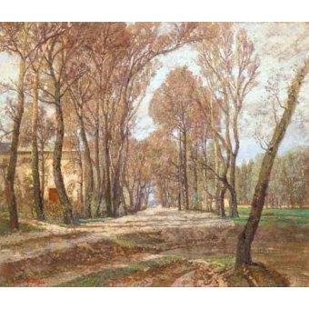 - Quadro -Prater 1907- - Blau-Lang, Tina