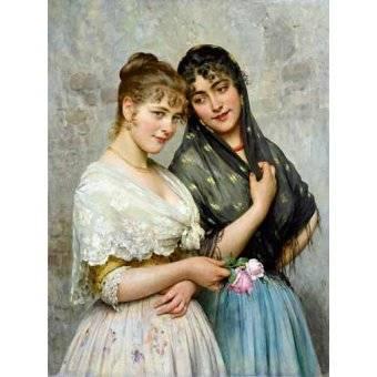 - Quadro -Mujeres venecianas- - Blaas, Eugen Von