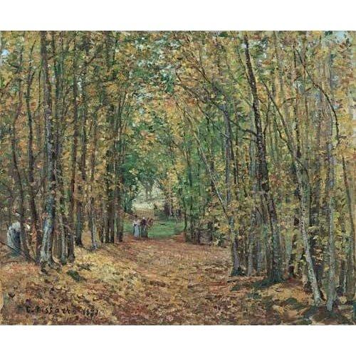 pinturas de paisagens - Quadro -Paisaje en el bosque, 1871-