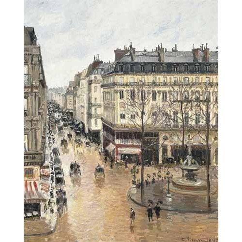 Quadro -Rue Saint Honoré aprés-midi (1897), efecto lluvia-