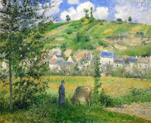 quadros-de-paisagens - Quadro -Paysage a Chaponvalle, 1880- - Pissarro, Camille