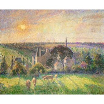 - Quadro -Landscape at Eragny, France (1895)- - Pissarro, Camille