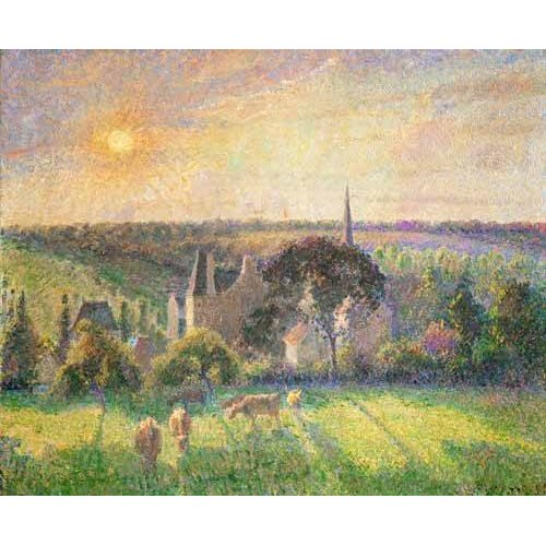 Quadro -Landscape at Eragny, France (1895)-
