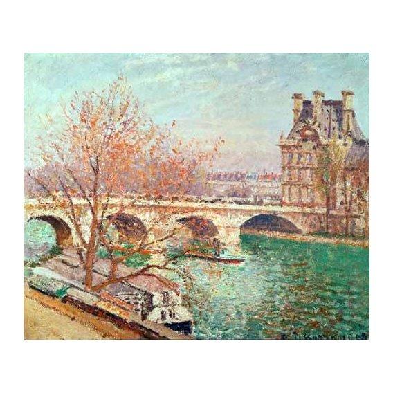 pinturas de paisagens - Quadro -Landscape at Pontoise, 1877-