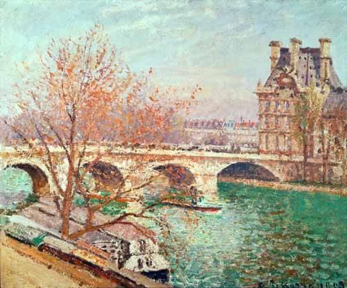 quadros-de-paisagens - Quadro -Landscape at Pontoise, 1877- - Pissarro, Camille