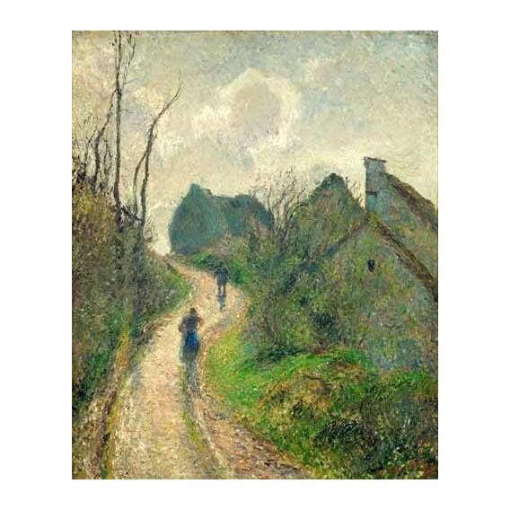 pinturas de paisagens - Quadro -Sendero de la Ravinière, Osny, 1883- ó -Ascending Path in Osny-