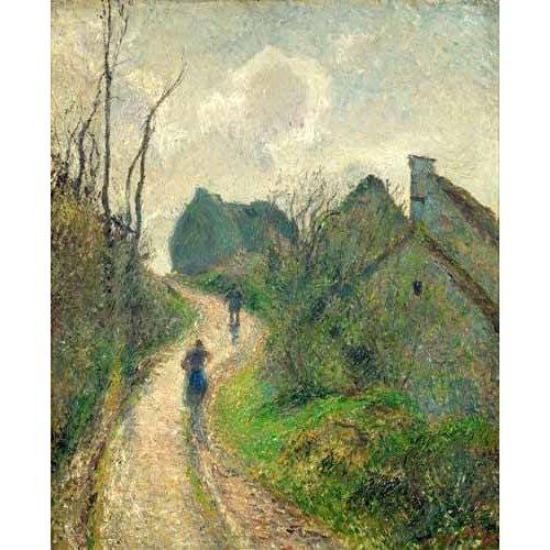 Quadro -Sendero de la Ravinière, Osny, 1883- ó -Ascending Path in Osny-
