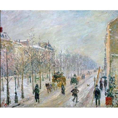 Quadro -Les Boulevards exterieurs,effet de neige, 1879-