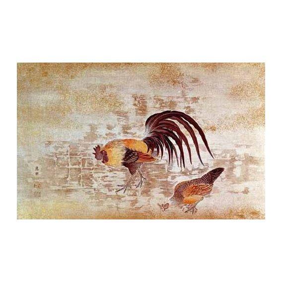 cuadros decorativos - Cuadro -Gallo y gallina-
