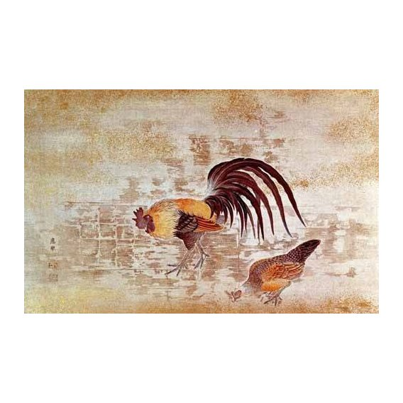 decorative paintings - Picture -Gallo y gallina-