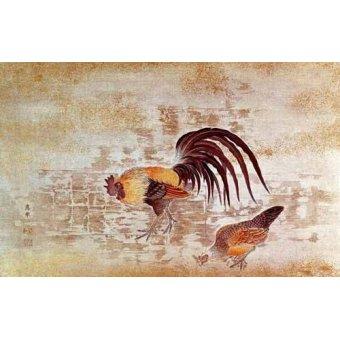 - Quadro -Gallo y gallina- - _Anónimo Chino