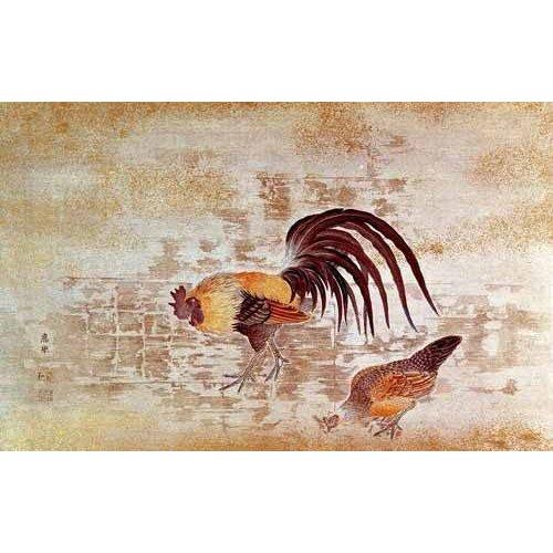 Cuadro -Gallo y gallina-
