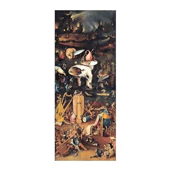pinturas de paisagens - Quadro -El Jardin De Las Delicias (Detalle panel derecho)-