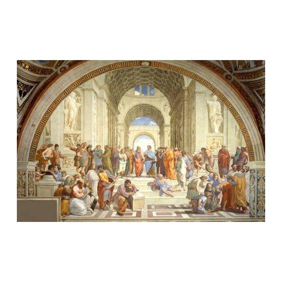 pinturas do retrato - Quadro -La Escuela De Atenas-